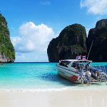 Phi Phi Islands Khao Lak Tours - Speed boat at Maya bay